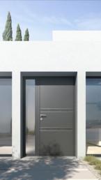 installation porte d'entrée sur-mesure et moderne