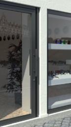 installation porte d'entrée vitrée sur-mesure
