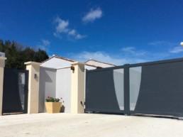 installation portail moderne sur antibes et cannes