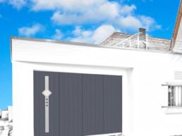 porte de garage noire sur-mesure